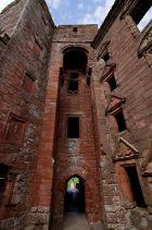Inside Caerlaverock Castle