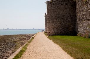 Outside Portchester Castle