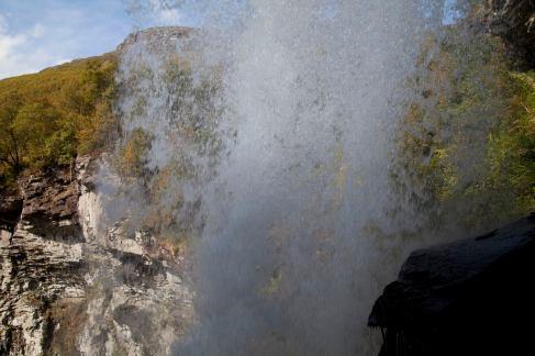Behind Waterfall