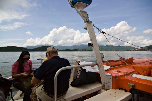 Tender Boat Approaching Nha Trang