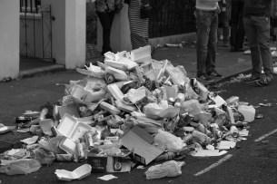 Notting Hill Carnival Rubbish