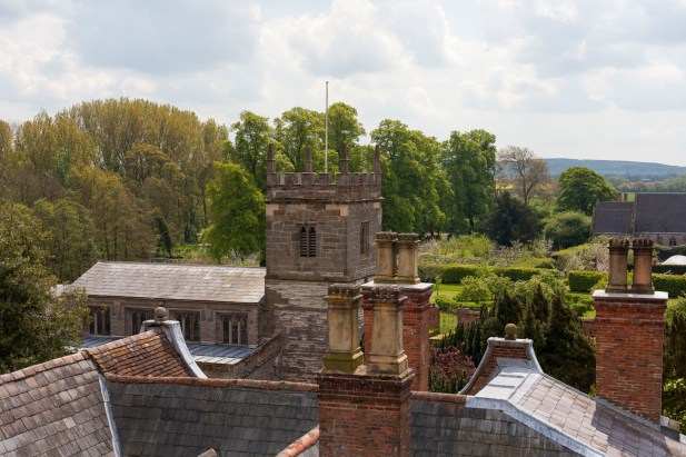 Coughton Court Roof View