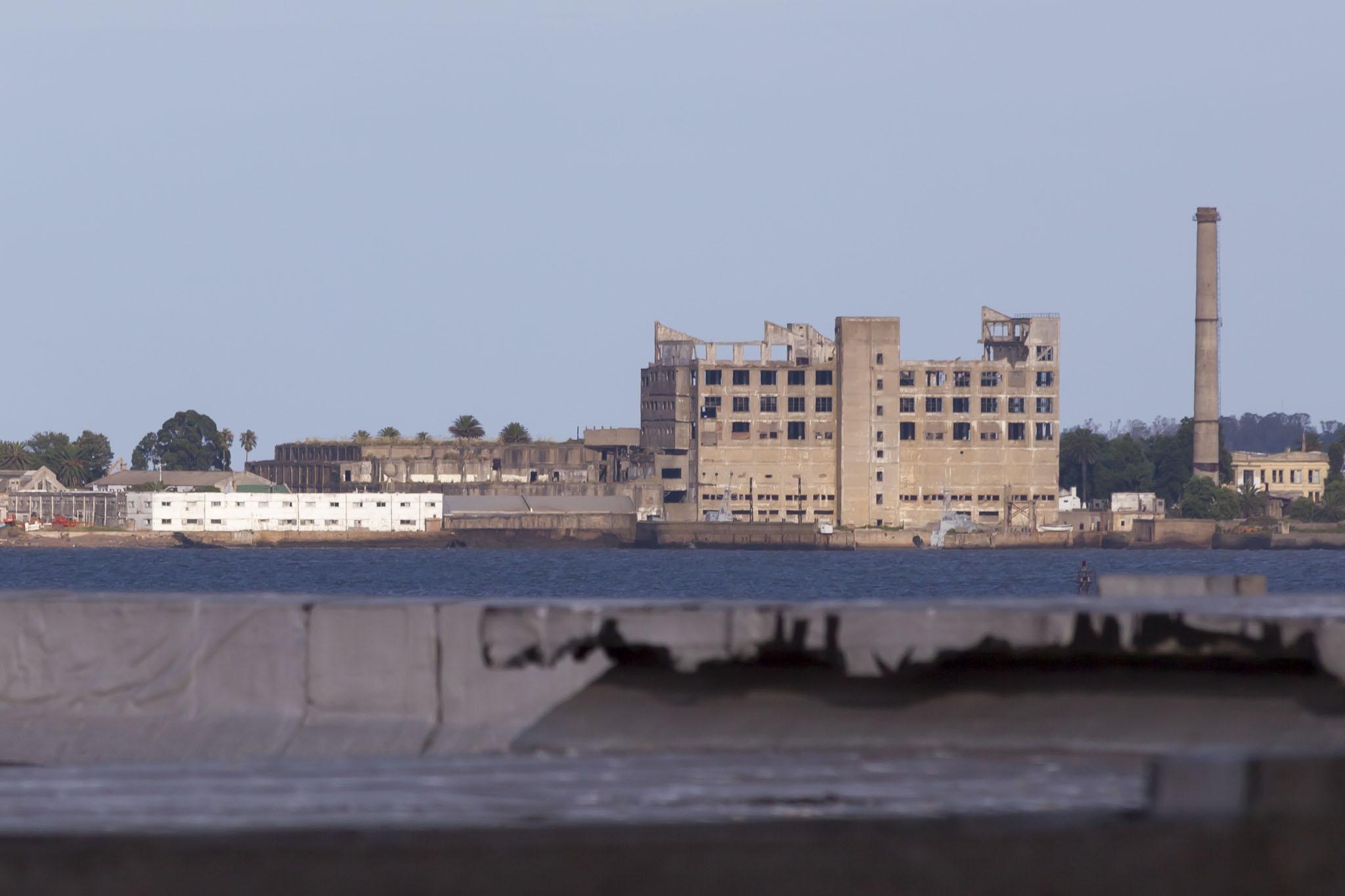 Distant Concrete Building
