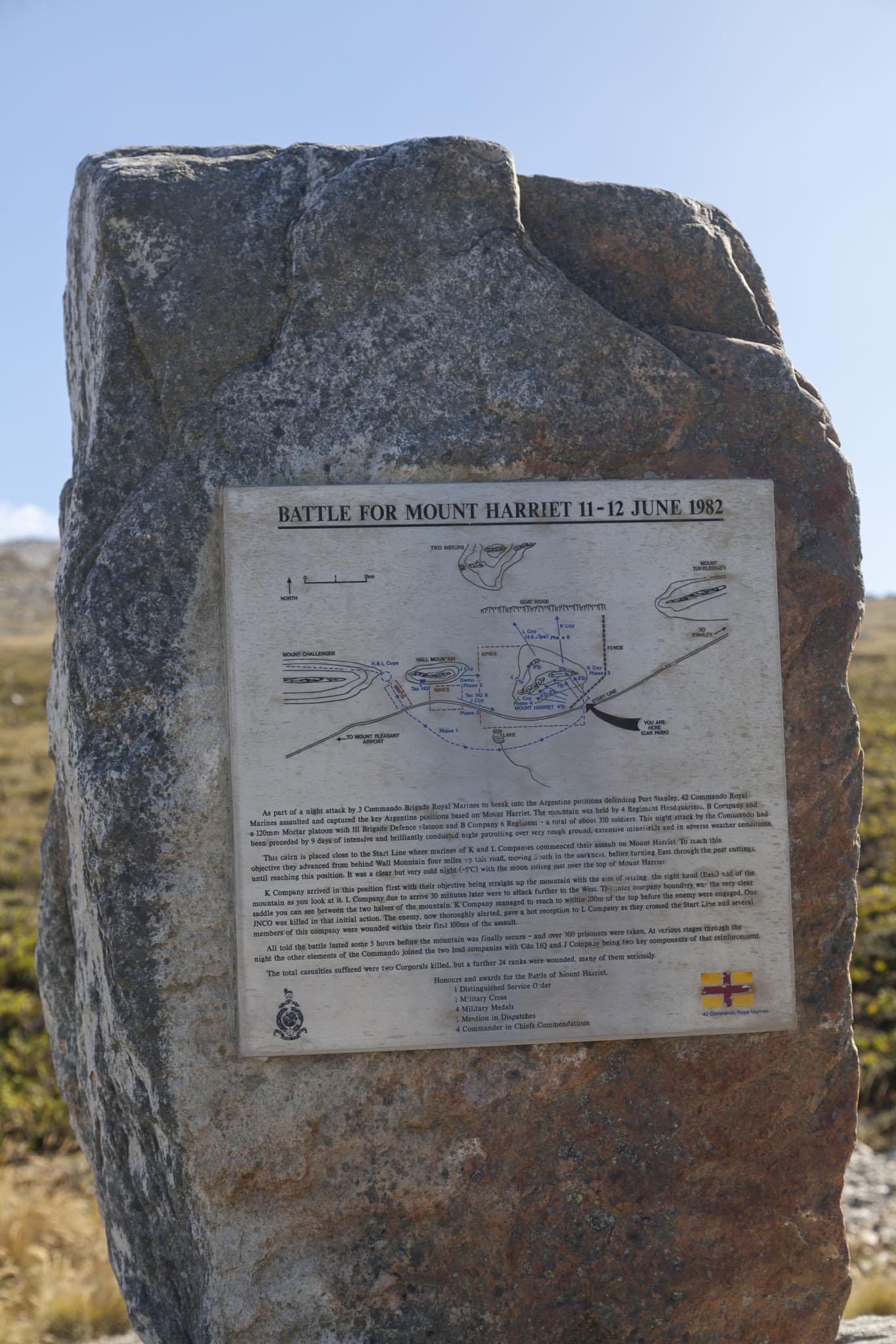 Battle Of Mount Harriet Memorial