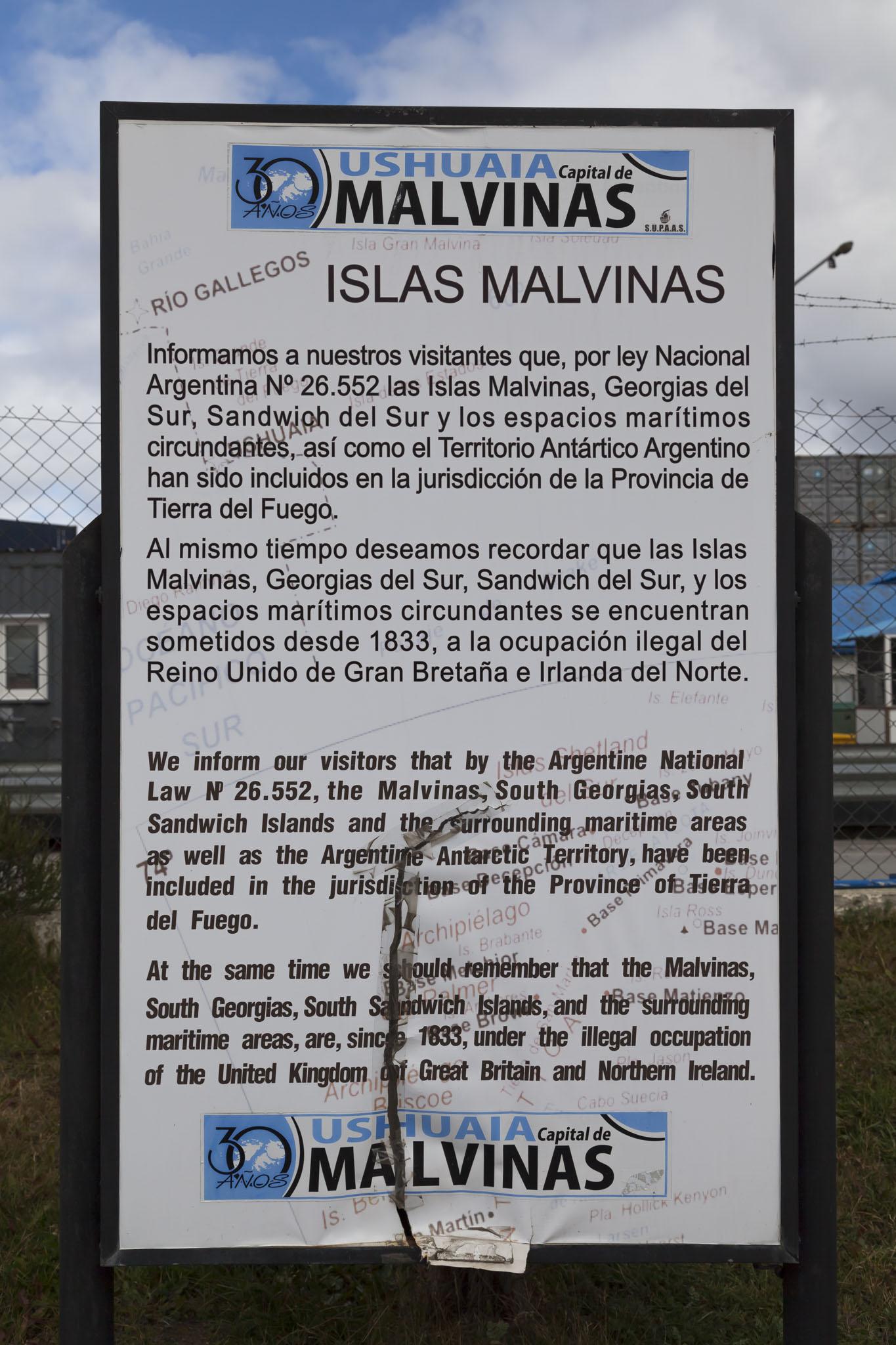 Falklands Sign