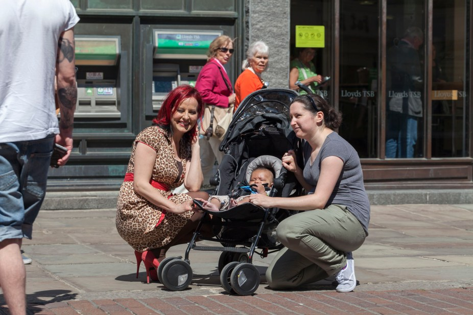 Carrie Grant Posing With Baby