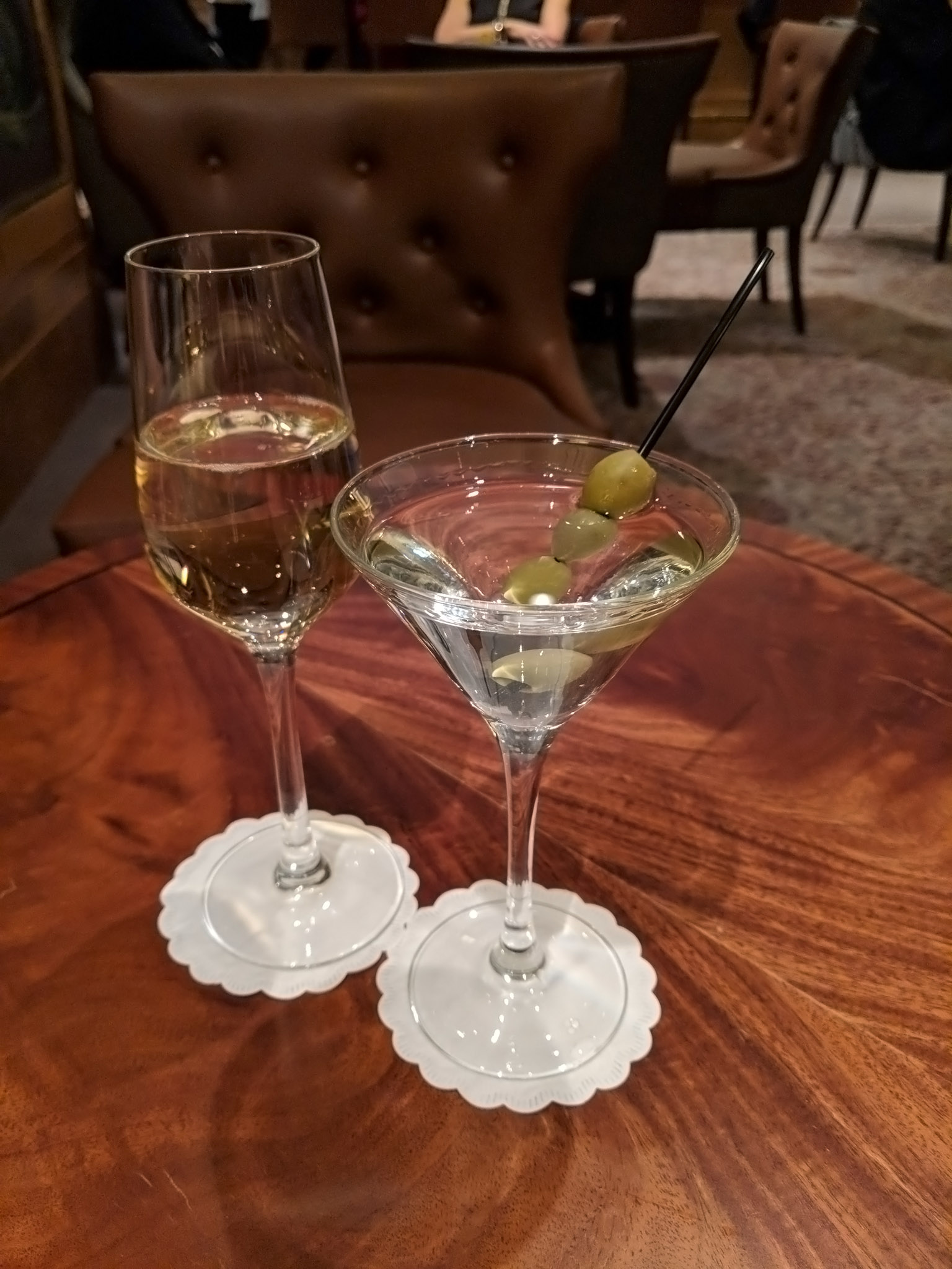 Champagne, Vodka Martini