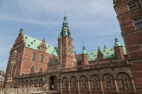 Outside Frederiksborg Castle