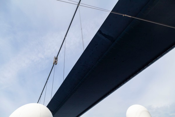 Cruising Under The Great Belt Bridge