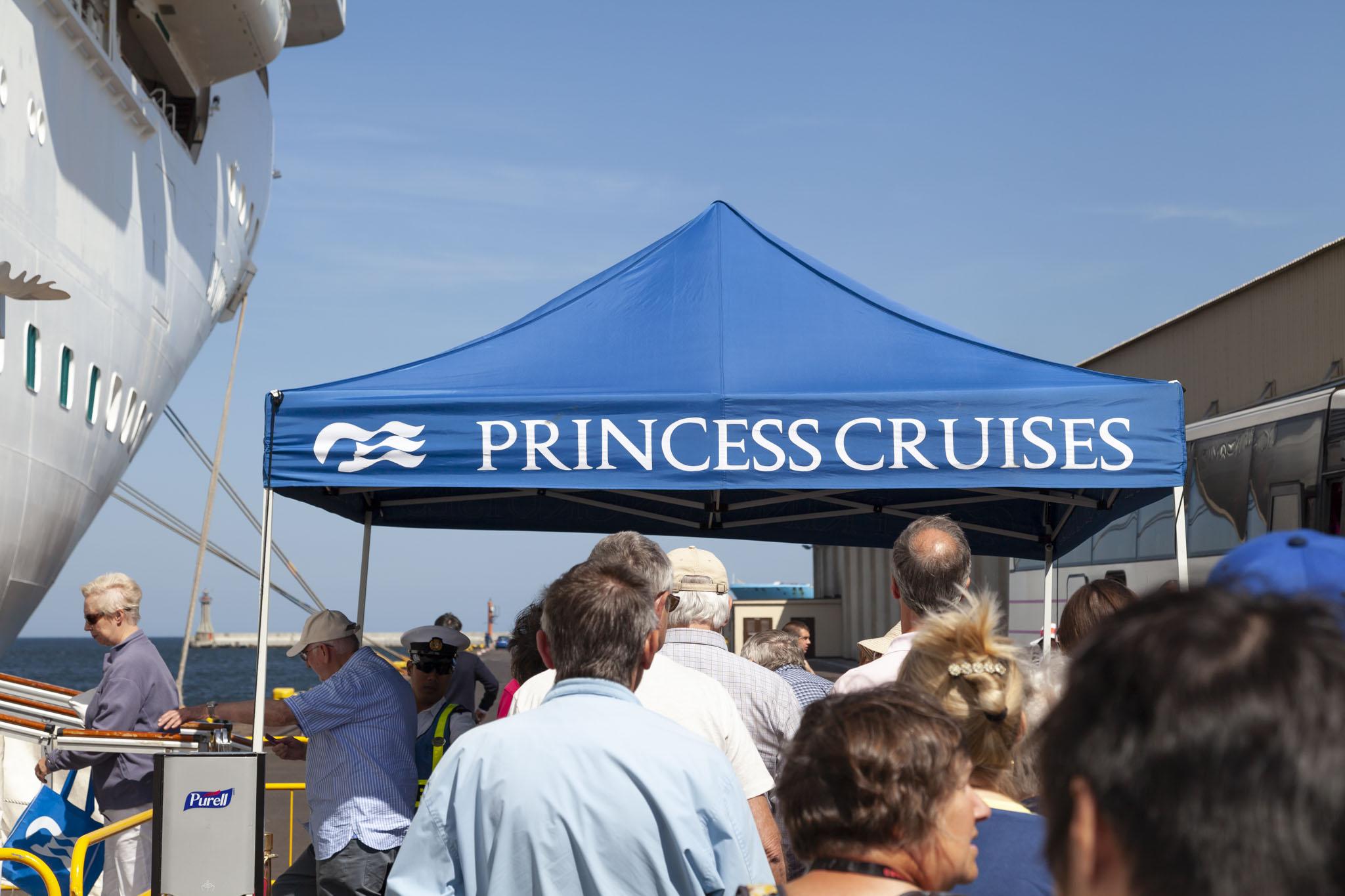 Boarding Crown Princess At Gdynia
