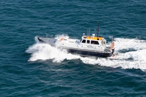 Spanish Pilot Boat Alongside Sapphire Princess