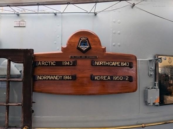 HMS Belfast Service Plaque
