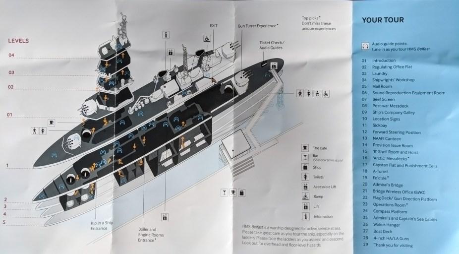 HMS Belfast Map