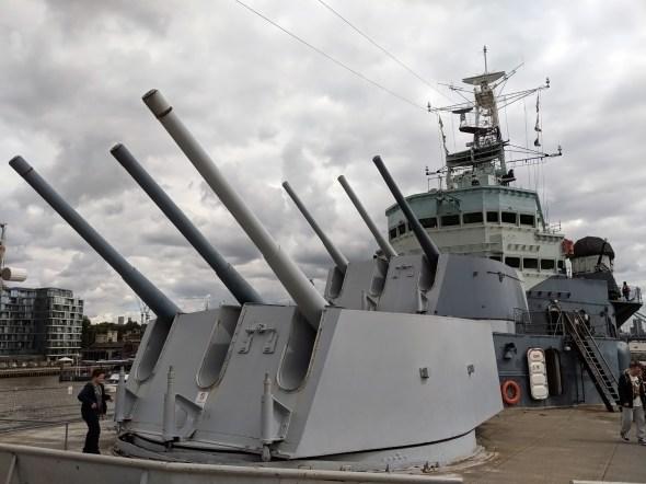 HMS Belfast Gun Turrets