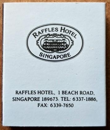 Raffles Hotel Matchbox