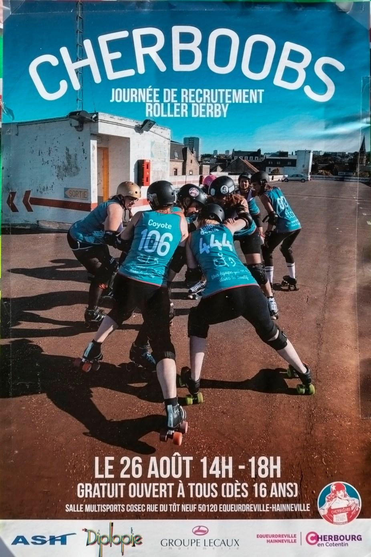 Cherbourg Cherboobs Roller Derby Poster