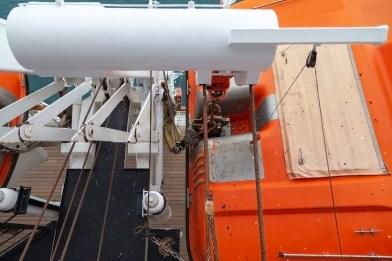 Life Boat Apparatus Beneath Balcony