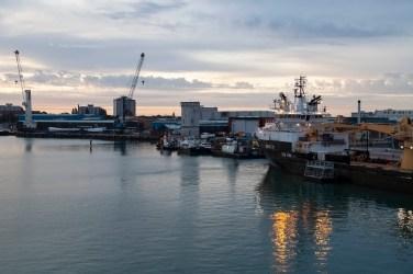 Naval Dockyard, Portsmouth, Dawn