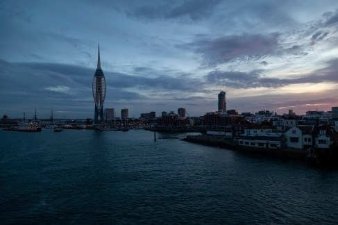 Gunwharf Quays, Portsmouth, Dawn