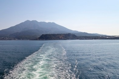 Leaving Sakurajima