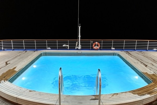 Star Princess Aft Pool, Night