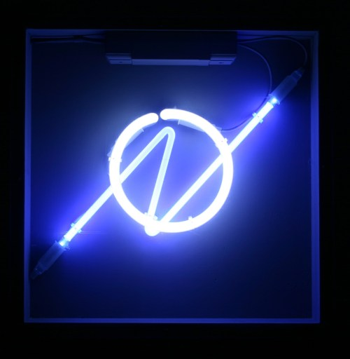 small resolution of blue neon symbol
