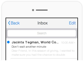 This email's subject line performed worse than the other, because it features off-brand messaging.