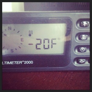 This morning's temperature