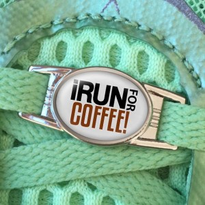 I Run For Coffee Shoe Charm or Zipper Pull from Charmed Running