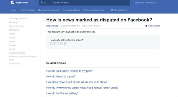 facebook will begin rolling out its new fake news crack down with its disputed news tag
