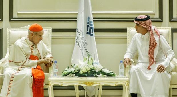 cardinal tauran during his meetings with riyadh officials