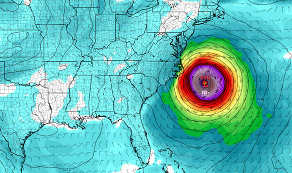 hurricane maria is predicted to make landfall on the us east coast by early next week