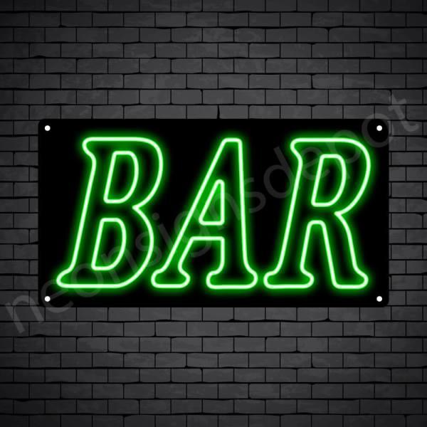 Bar sign Green - Black