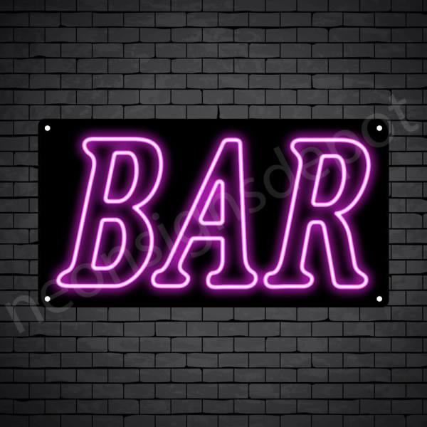 Bar sign Pink - Black