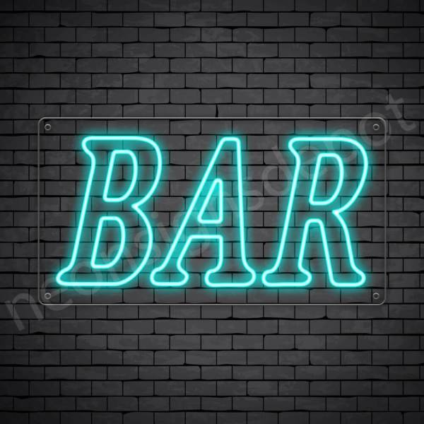 Bar sign Light Blue - Transparent