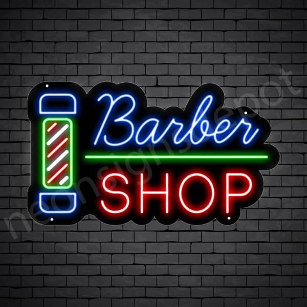 Barber Neon Sign Barber Shop Black - 24x14