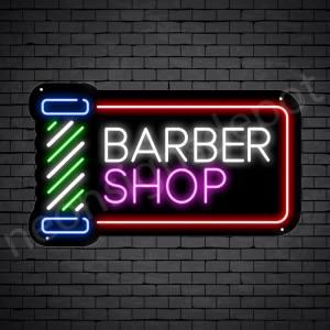 Barber Neon Sign Barber Shop Cut & Shave Open Black - 24x14