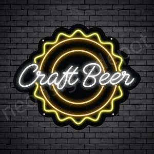 Beer Neon Sign Craft Beer - Black
