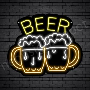 Beer Neon Sign Two Beers 24x20