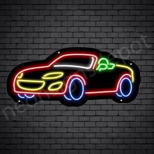 Car Neon Sign Auto Car Black 24x11