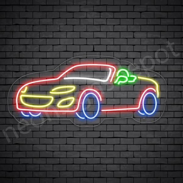Car Neon Sign Auto Car Transparent 24x11