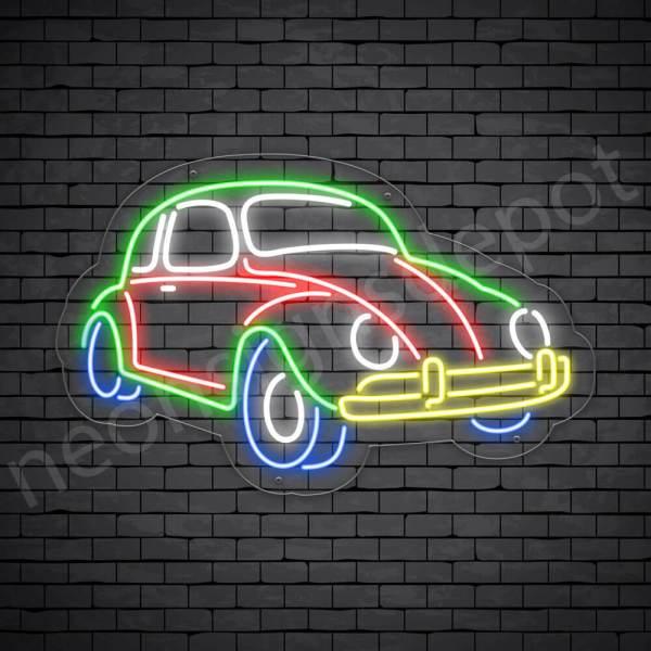 Car Neon Sign AUTOMOTIVE Vintage Style Transparent - 24x15