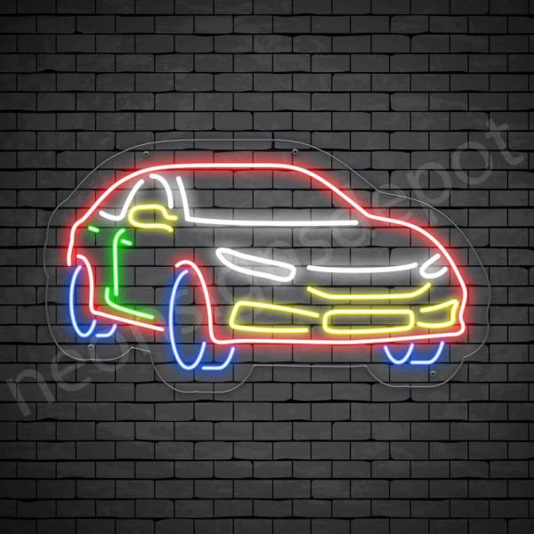 Car Neon Sign AUTOMOTIVE CAR Transparent - 24x14