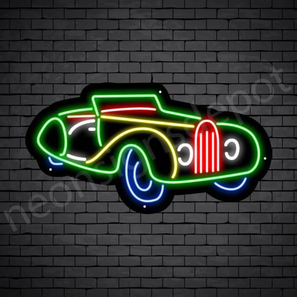 Car Neon Sign Bugatti Black -24x13