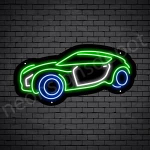 Car Neon Sign Super Fast Car Black - 24x12