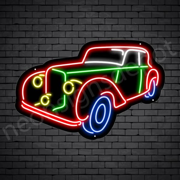 Car Neon Sign New Ford Pick Up Style Black - 24x15