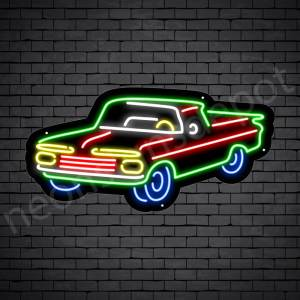 Car Neon Sign New Ford Style Black - 24x11