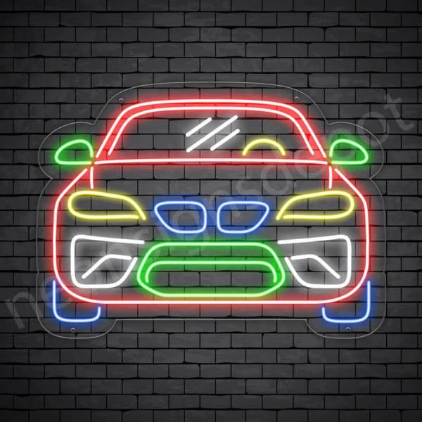 Car Neon Sign Sports Car Transparent - 24x18