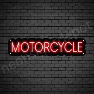 Motorcycle Neon Sign Motor Cycle Black - 24x6