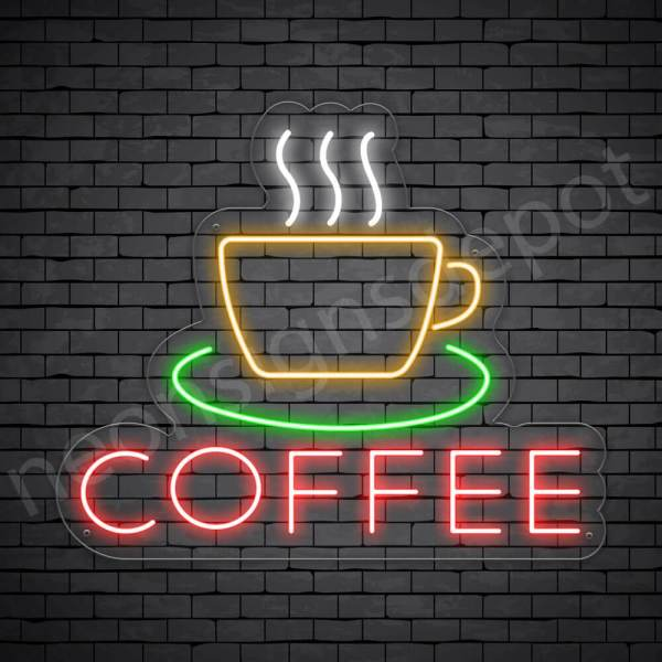 Coffee Neon Sign Coffee Transparent 24x20